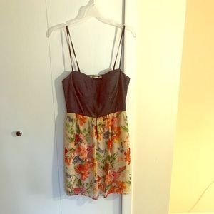 Denim and floral dress. Mystic size M.